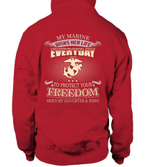 Marine Mom Daughter Protects Your Freedom T-shirts