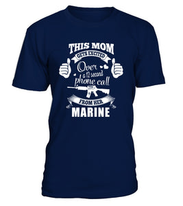 Shirt - Marine Mom Gets Excited T-shirts