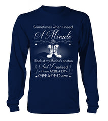 Marine Mom Miracle T-shirts