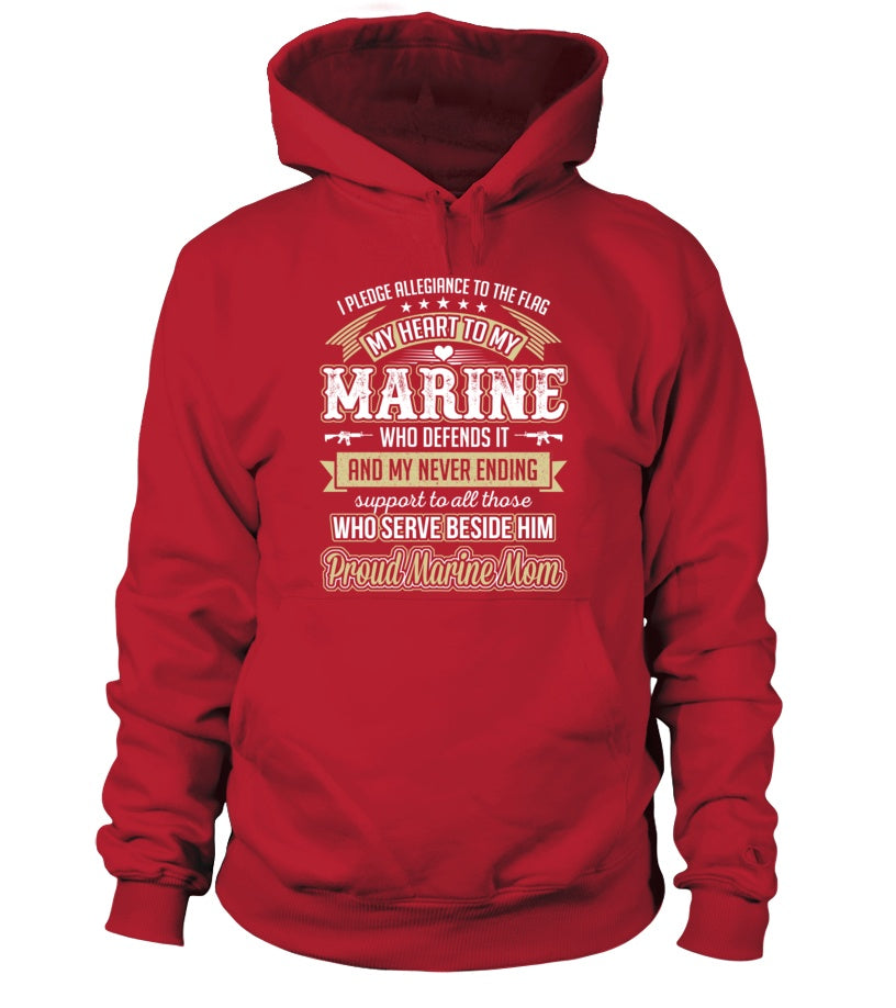 Shirt - Marine Mom Pledge Allegiance T-shirts