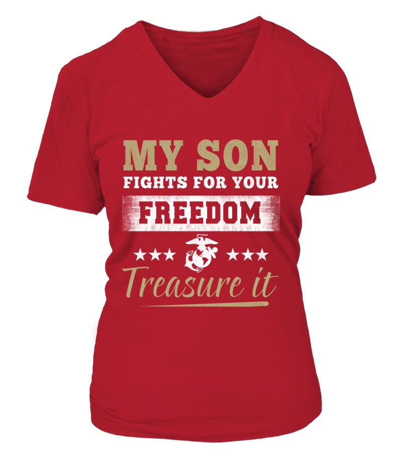 Shirt - Marine Mom Treasure It T-shirts