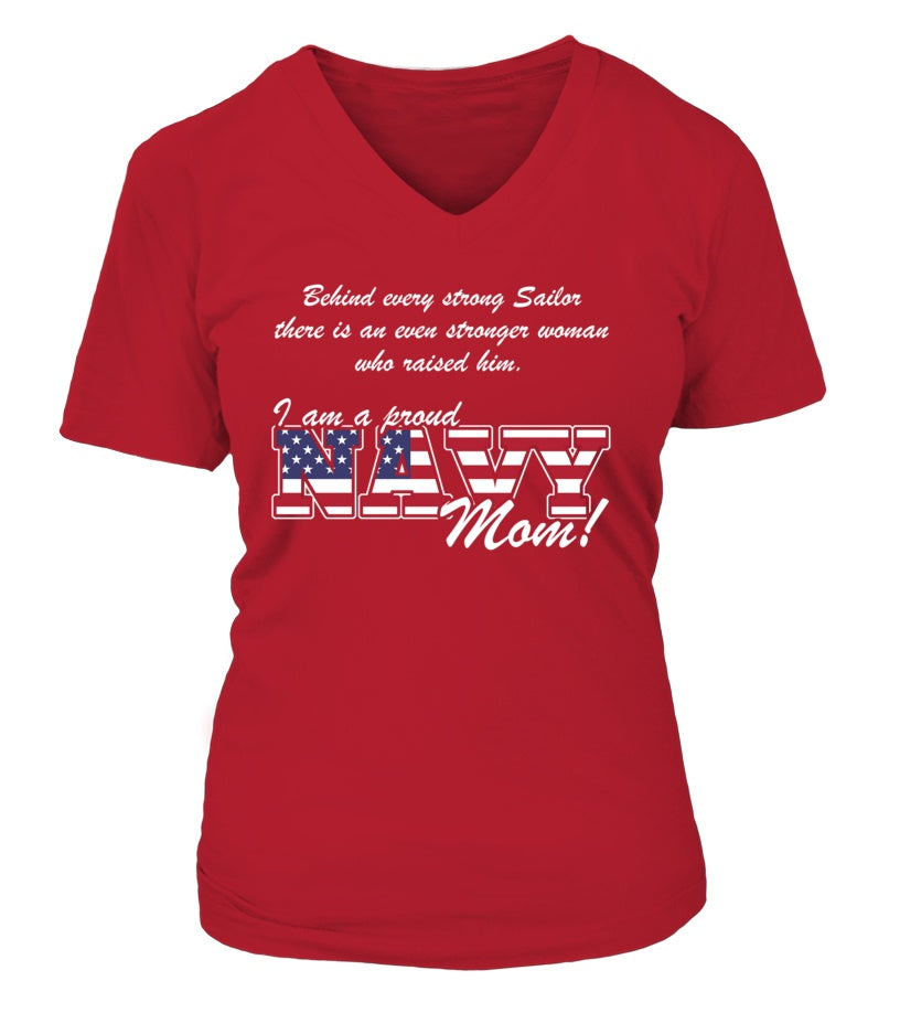 Shirt - Navy Mom Behind Soldier T-shirts