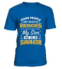Navy Mom Believe In Heroes T-shirts
