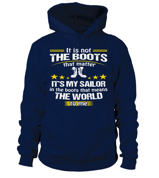 Navy Mom Boots No Matter T-shirts