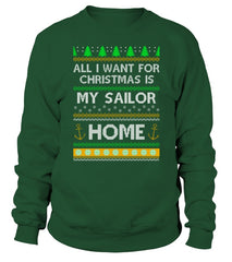Navy Mom Christmas Home T-shirts