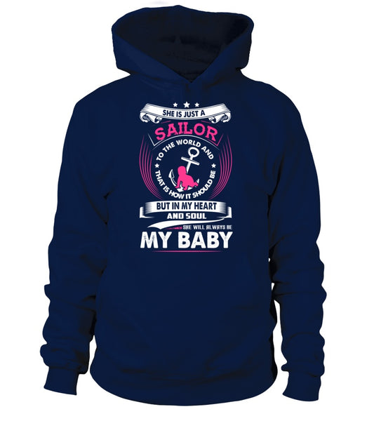 Navy Mom Daughter Always My Baby T-shirts