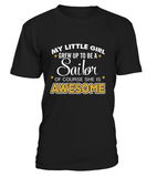 Shirt - Navy Mom Daughter Awesome T-shirts