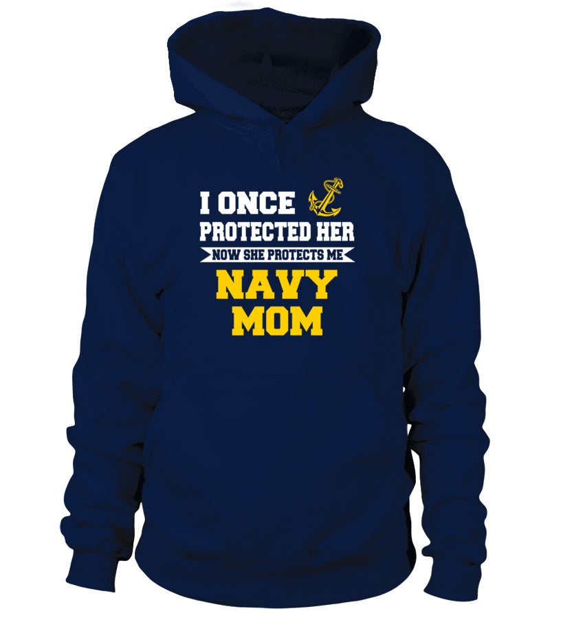 Shirt - Navy Mom Daughter Once Protect T-shirts