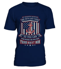Navy Mom Daughter Sacrifices T-shirts