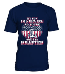 Navy Mom Drafted T-shirts