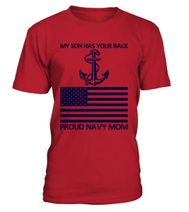 Shirt - Navy Mom Has Your Back T-shirts