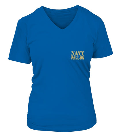 Navy Mom More Proud Plus T-shirts