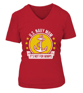 Shirt - Navy Mom Not For Wimps T-shirts