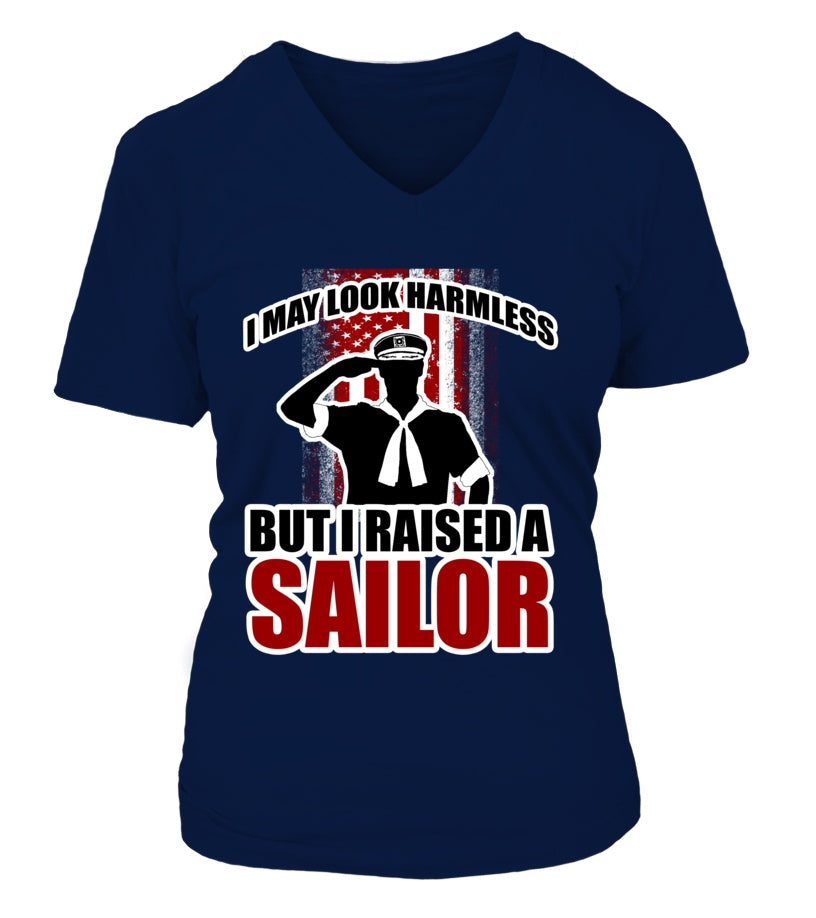 Shirt - Navy Mom Not Harmless T-shirts