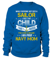 Navy Mom Over A Decade T-shirts