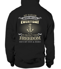 Navy Mom Protects Your Freedom T-shirts
