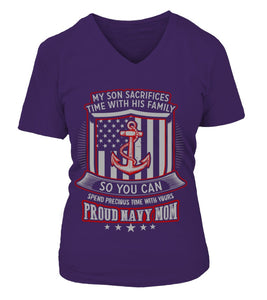 Shirt - Navy Mom Son Sacrifices T-shirts