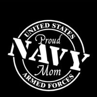 Navy Mom Armed Forces Decal
