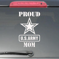 Proud Us Army Mom Decal