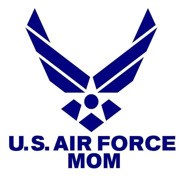 United States Air Force Mom Vinyl Window Decal