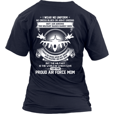 Air Force Mom The Silent Ranks Shirts