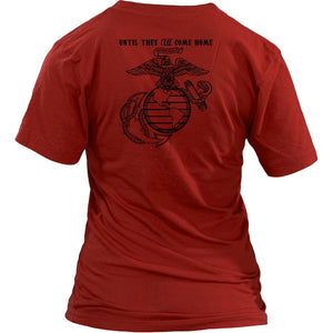 T-shirt - Marine Mom On Friday We Wear Red
