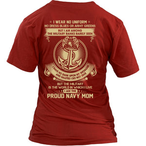 T-shirt - Navy Mom The Silent Ranks Shirts
