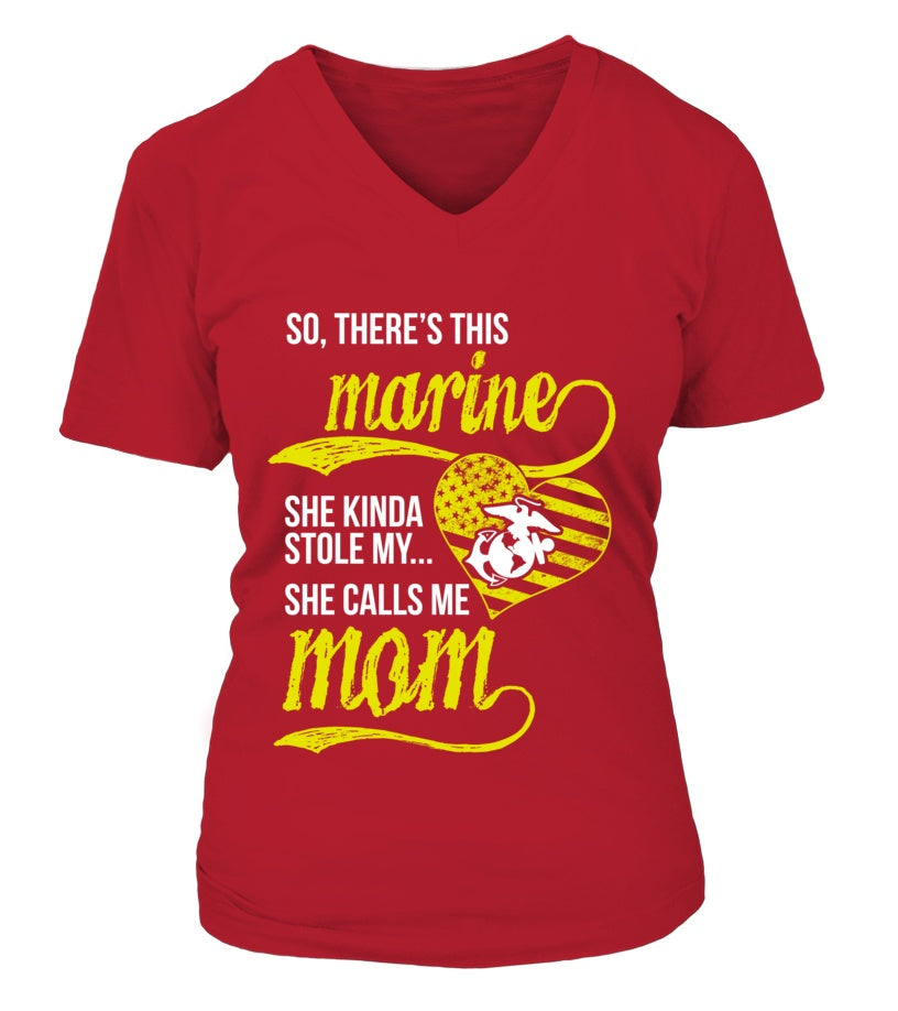 T-shirt - This Marine She Stole My Heart