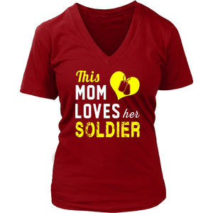 T-shirt - This Mom Loves Her Soldier