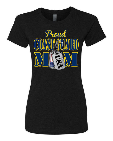 Proud Coast Guard Mom USA T-shirts