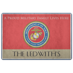 The Ledwith's Personalized Marines Doormat