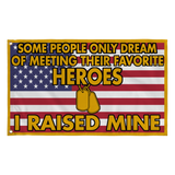 Army Mom Dad Raised My Hero Flag - MotherProud
