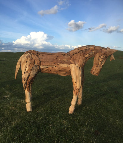 Teak Horse Small 850mm High