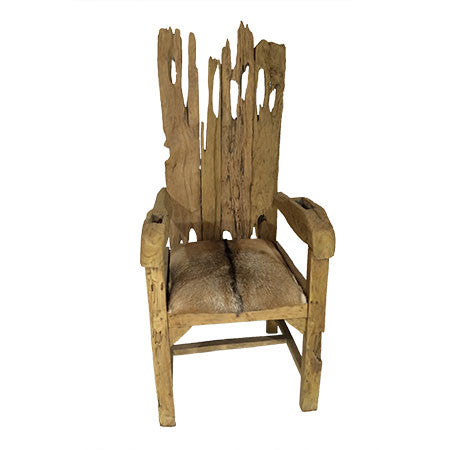 Goat Hide Throne Chair
