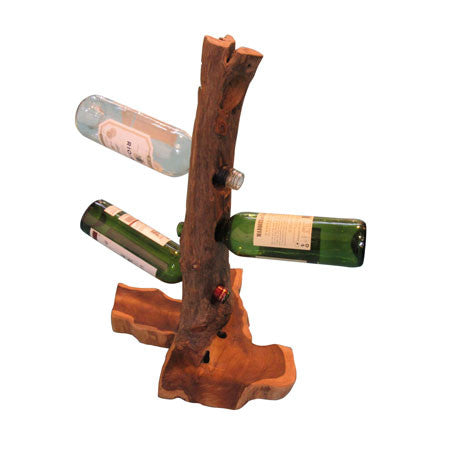 Root Table Wine Stand 4 x Bottle