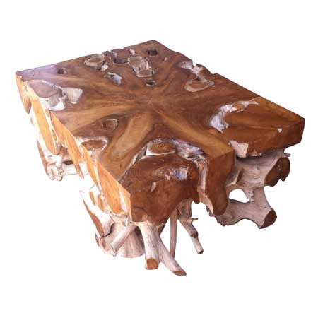 Teak Root Solid Rectangle Coffee Table