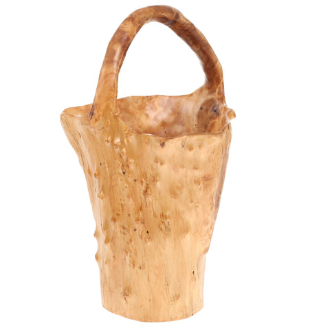 Tall Root Basket With Handle