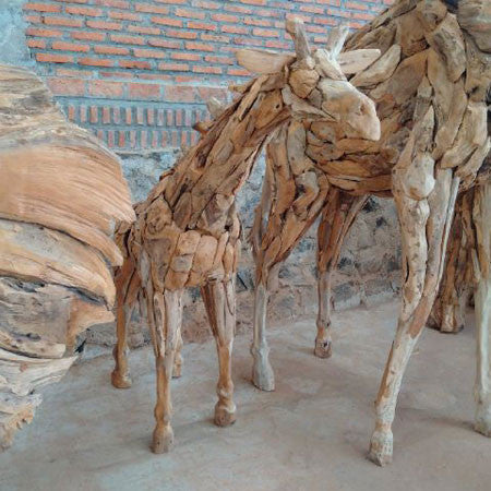 Driftwood Giraffe Small 1.8 meters Tall
