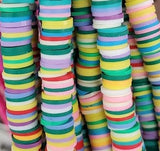 Rubber Disc Beads