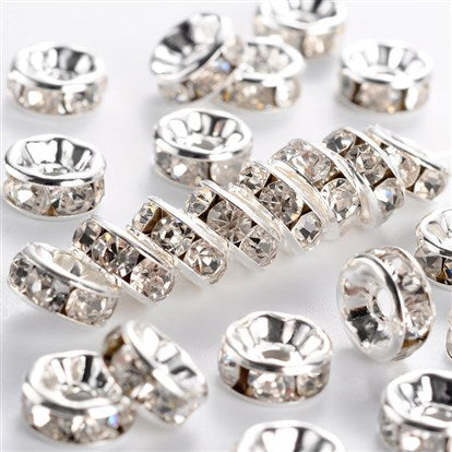 "Rhinestone Rondelle Spacers ""A"" quality"