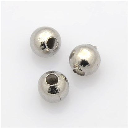 Stainless Round Beads (316SS) 100pcs