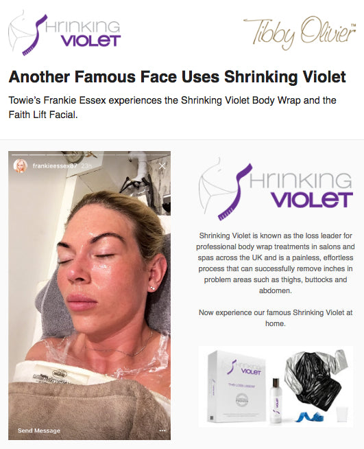 Another Famous Face Uses Shrinking Violet