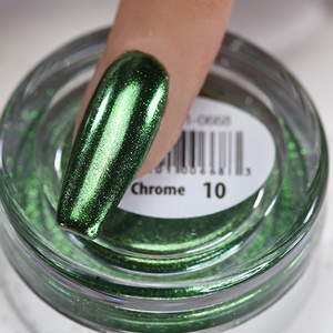 Chrome Nail Art Effect, Green Chrome 1g by Cre8tion