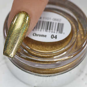 Chrome Nail Art Effect, Gold Hologram 1g by Cre8tion