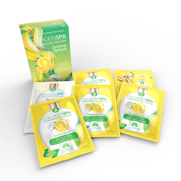 LaPalm Collagen Spa Pedi & Mani Kit - Lemon Splash (6 steps)