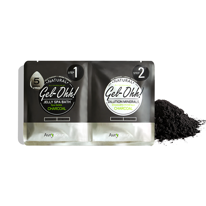 Jelly Pedi Spa Packets By AvryBeauty | GEl-OHH! - CHARCOAL