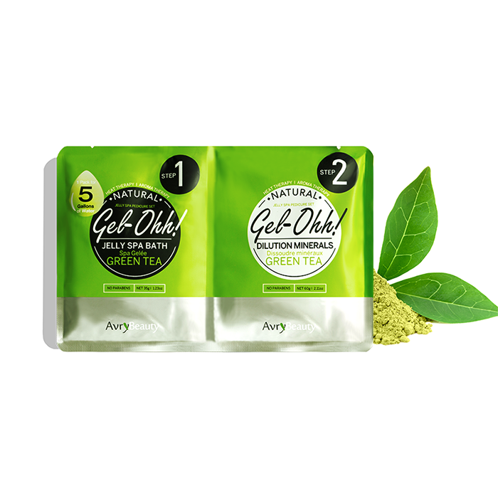 Jelly Pedi Spa Packets By AvryBeauty | GEl-OHH! - GREEN TEA