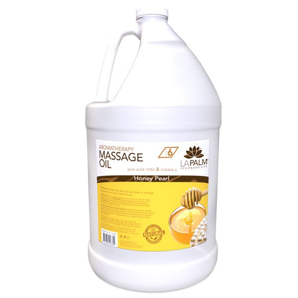 Honey Pearl Massage Oil Gallon by LaPalm