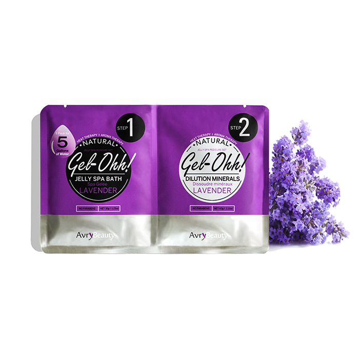 Jelly Pedi Spa Packets By AvryBeauty | GEl-OHH! - LAVENDER