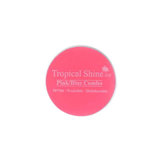 Tropical Shine Reusable Round Sander File 220/400 Grit (Fine) Pink/Blue